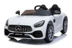 Mercedes AMG GT 12V Elettrico Con Licenza a 2 Posti Bianco