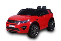 Articolo graduato - 12V Land Rover Discovery Rosso con licenza Girainauto
