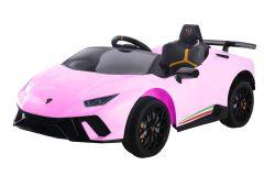 Lamborghini Huracan con licenza 12V Rosa