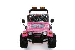 4x4 Rosa - 12V 2 Posti Elettrico Girainauto Per Bambini