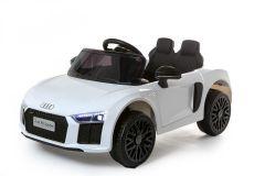 12V Audi R8 Spyder con Licenza Bianco