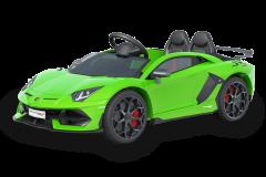 Lamborghini 12V con Licenza Verde 2 posti per bambini