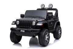 Jeep Rubicon Elettrica 12V Con Licenza a 2 Posti Nero