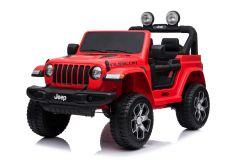 Jeep Rubicon Elettrica 12V Con Licenza a 2 Posti Rosso
