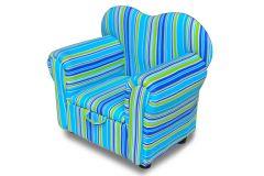 Sedia verde blue con scompartimento per bambini