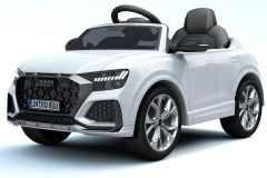 12V Audi Q8 RS con Licenza Bianco